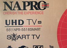 تلفزيون جديد بحاله نظيفه وتلفاز ذكي