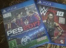 Pes 2017 , W2k 2018    العاب PS4