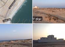 ارضين شبك الاشخره اول خط من البحر موقع مميز