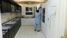 تفصيل مطابخ الامونيم حسب الطلب والمقاس  وترميم وصيانة مطابخ تغير رخام تغير لون س