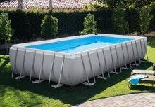 بركة سباحة طول 9.75 متر *عرض 4.88 متر *ارتفاع 1.32 متر  ماركة انتيكس