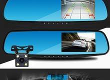 شاشة مرآة سيارة تسجيل صوت وصورة