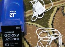 موبايل جالكسي جديد  بكفالتو مع سمعاتو و وشاحن اصلي  Galaxy J2core السعر 60