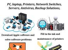 مسؤول اعمال الحاسب الالي أقوم بأعمال الصيانة والمتابعة لأجهزة الكمبيوتر والشبكات والطابعات
