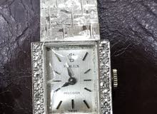 old fashion white gold and diamonds rolex watch model 70s