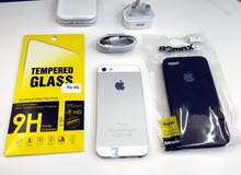 ايفون 5 العادي 16 جيبي قمة في النظافة بسعر خرافي مع الملحقات