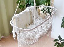 Baby Cradle bed, Baby Hanging Hammock, Newborn Swing Basket,Handmade Hollow Macrame