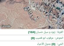 ارض للبيع في سيل حسبان مساحه 933 متر على شارعين اطلاله جميله جدا على البحر الميت