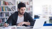 المساعده والتدريب على حل اختبارات وواجبات متوسط وثانوي