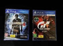 للبيع لعبتين PS4 بسعر رخيص