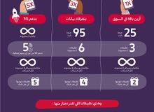 اول شهر مجاني جميع الباقات  الرقم يبدا ب 058 يعني زين  تدعم 5G