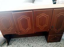 دولاب مطبخ خشبي صناعة محلية قطعتين فوق وتحت للبيع