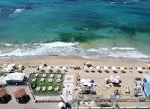 لعشاق السكن على البحر  بشاطئ ابو هيف  علي البحر مباشرة  كلها علي البحر