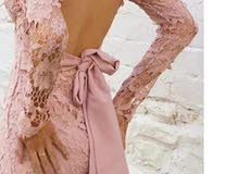فستان دانتيل قماشة بتجنن تركي