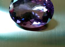 Amethyst-cut and rough stones available