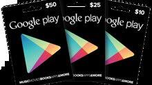 بطاقات شحن جوجل بلاي