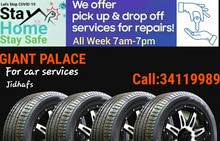 Brand new tyres and car service