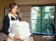 مكتب عاملات للتنظيف المنازل يومي شهري