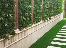 تنسيق الحدائق بالعشب الصناعي والعشب الجداري