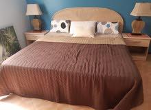 غرفه نوم بحاله ممتازه من مفروشات المنزل