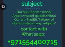 Arabic home tutor available