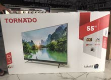 "tornado 55""smart 4K uhd ultra hd led tv Netflix YouTube brand new model slim panels"