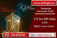 CV Writing Services in UAE with FREE Cover letter
