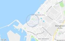 عمارة خدمية خلف منارة بنغازي مطله علي البحر