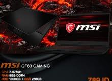 GF 65 Thin 9SD Cpu i7 9750 H NIVIDIA GeForce GTX 1650 4G  GB SSD  لابتوب