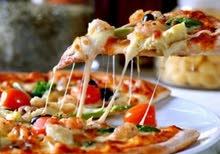 سط بيتزا