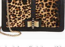 Louboutin Calf Fur Leopard Print