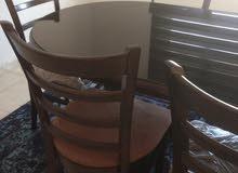 طاولة سفرة خشب ماليزي 6 كراسي