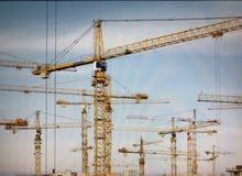للايجار تاور كرين 8 طن tower crane