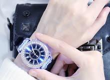ساعة يد أنيقة مضيئة ضد الماء للرجال والنساء
