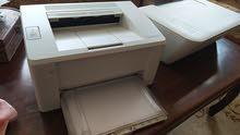 طابعتين HP وماسح ضوئي HP ونص كيلو حبر بودرة هدية بسعر طابعة واحده