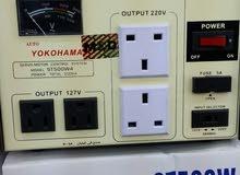 محولات ومنظمات كهرباء ياباني يوكوهاما شغل 110/220 والعكس