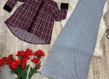 فستان قطعتين القياسات من 40الى50 السعر 33الف