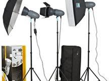 طقم استديو احترافي فلاش ثلاث رؤوس VISICO Studio Flash VL PLUS