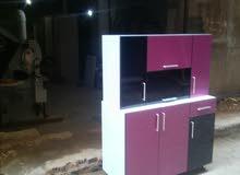 مطبخ عرض 120سم بطبقه HPL باعلى وجوده وفنش