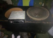 صندوق دبل في سماعه امريكي 12انش ومسجل سوني بدو فيشه عرض لليوم بس