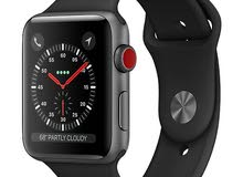 ابل واتش  iwatch s3  Apple Watch Series 3 (GPS + Cellular, 38mm) - Space Gray Al