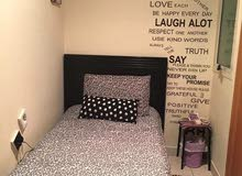 Small master room for 950/ attached washroom, wardrobe, portable AC