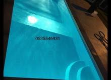 مسابح فيبر جلاس جاهز  يوجود عدات اشكل من الفيبر جلاس  للتواصل 0535546931