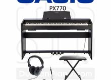 Casio Piano PX770 كاسيو بيانو أسود