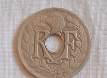 عملة نقدية ناذرة 25 سنتيم سنة 1918