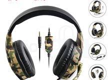 سماعات الرأس  المميزة للألعاب مع جودة صوت عالية لإضافة المتعة والحماس إلى لعبتك (الدفع عند الاستلام)