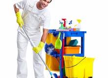مطلوب عامل تنظيف وترتيب للعمل لدى شركة
