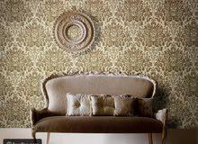 ورق جدران تركي اجمل الديزاينات العصرية وباقل الاسعار شامل التركيب