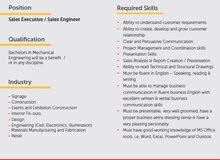 Sales Executive/Sales Engineer