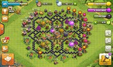 حساب للبيع (8) Clash of clans و (ساحة 8) Clash royal